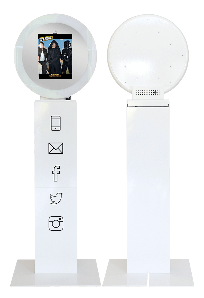 White GIFpod Photo Booth without Vinyl Wrap